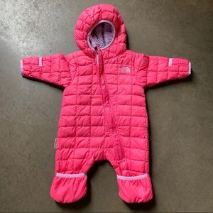 Infant Girls The North Face Thermoball Bunting 0-3
